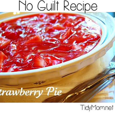 No Guilt Strawberry Pie