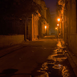 Street in Havana by Chris Seaton - City,  Street & Park  Street Scenes ( city scape, city scene, illumination, havana, early morning,  )