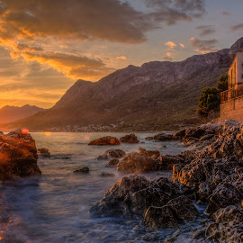 Cape by Bojan Bilas - Landscapes Sunsets & Sunrises ( waterscape, cape, sunset, croatia, gradac, seascape )