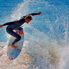 Chaos... by Dave Ross - Sports & Fitness Watersports ( watersports, splash, blue, sea, surf )