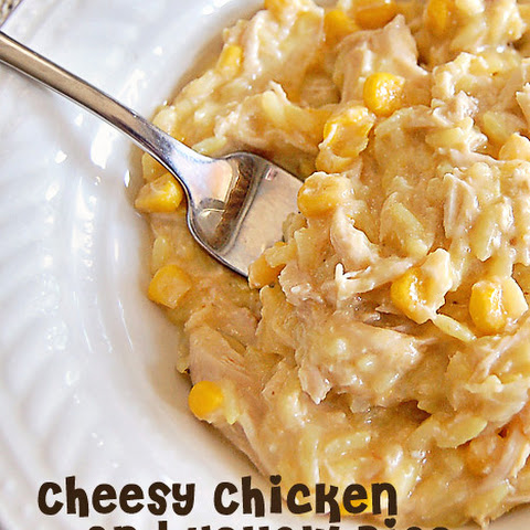 Cheesy Chicken and Yellow Rice in the Crock Pot