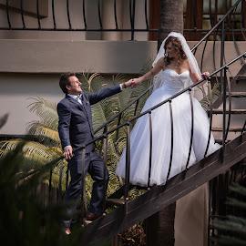 Stairs by Lodewyk W Goosen (LWG Photo) - Wedding Bride & Groom ( wedding photography, wedding photographers, wedding day, weddings, wedding, brides, staris, wedding photographer, bride and groom, bride, groom, bride groom )