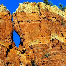 Hole In The Wall by David Walters - Landscapes Mountains & Hills ( az, red, nature, lumix fz200, sedona, rocks )