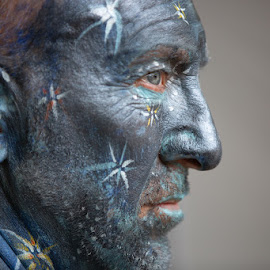 Painted Man by VAM Photography - People Body Art/Tattoos ( body art, art, places, new york city., man )