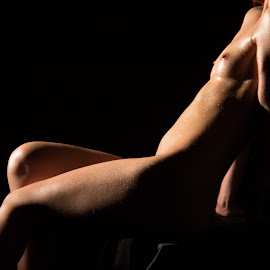 Good light by Mario Horvat - Nudes & Boudoir Artistic Nude ( lights, black background, breasts, akt, legs, skin, nudes )