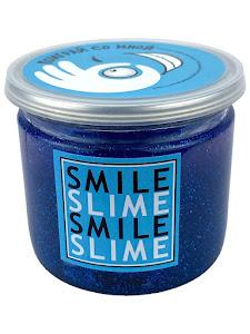 Слайм-лизун Синие блески, 150 мл.