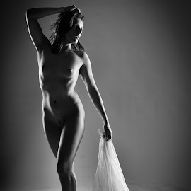 Girl with curtain by John Einar Sandvand - Nudes & Boudoir Artistic Nude ( ewelll, krakow, artistic nude )