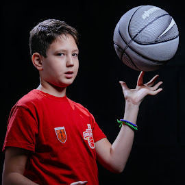Stralex by Bugarin Dejan - Babies & Children Child Portraits ( basketball, expression, face, model, ball, player, beautiful, sport, beauty, professional, pretty, photography, portrait, eyes, kid, hands, color, bestoftheday, basket, smile, boy )