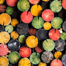 colour circles#1 by Riad Zbeida - Artistic Objects Other Objects ( arts, colors, wallpaper, circle, woods,  )