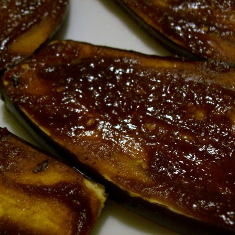Teriyaki - Hoisin Eggplant Steaks
