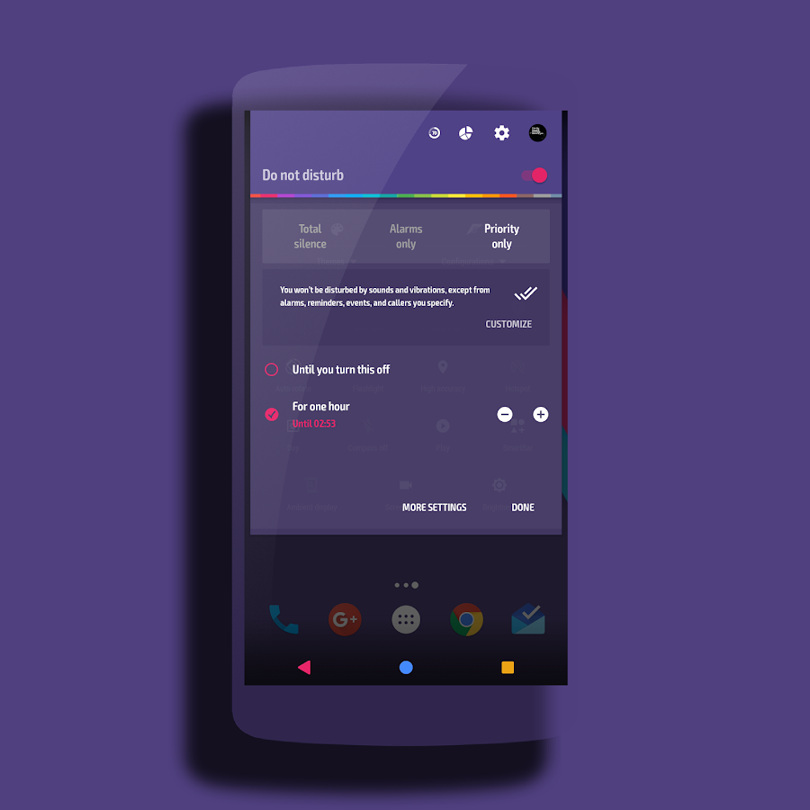 Neptune │Vibrant Theme CM13/12 Screenshot 2