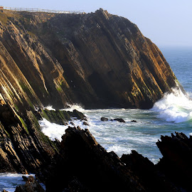 Cliffs by Gil Reis - Nature Up Close Rock & Stone ( cliffs, places, nature, travel, water, sea, life )