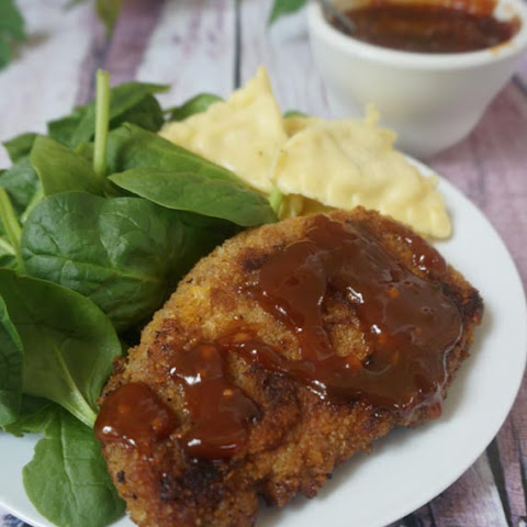 Honey Crusted Pork Chops with Honey Soy Sauce