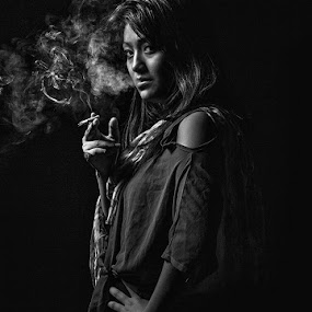 Girl from Ipoh by JNJ PhotoStream - People Portraits of Women ( canon, canon1dx, women, smoke )