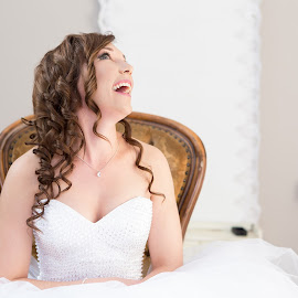 Preperation by Lodewyk W Goosen (LWG Photo) - Wedding Bride ( expression, natural light, wedding photography, wedding photographers, indoor, makeup, brides, wedding dress, fun, beauty, photo, posing, pretty, portrait, laughing, happy, weddings, wedding, wedding day, lips, wedding photographer, bride )
