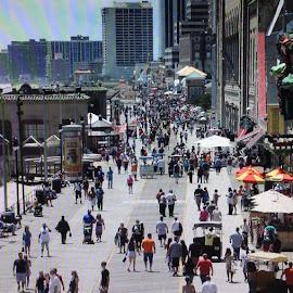 Big crowd  by Anna Tripodi - People Street & Candids ( ac, people, crowd, boardwalk,  )