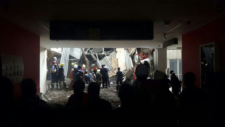 Patients 'trapped' after roof collapses at hospital in Johannesburg
