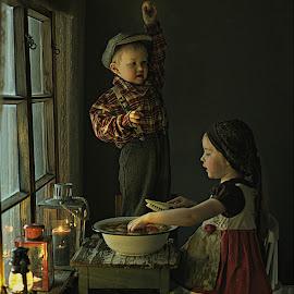 Inga & Veeti by Pirjo-Leena Bauer - Babies & Children Children Candids