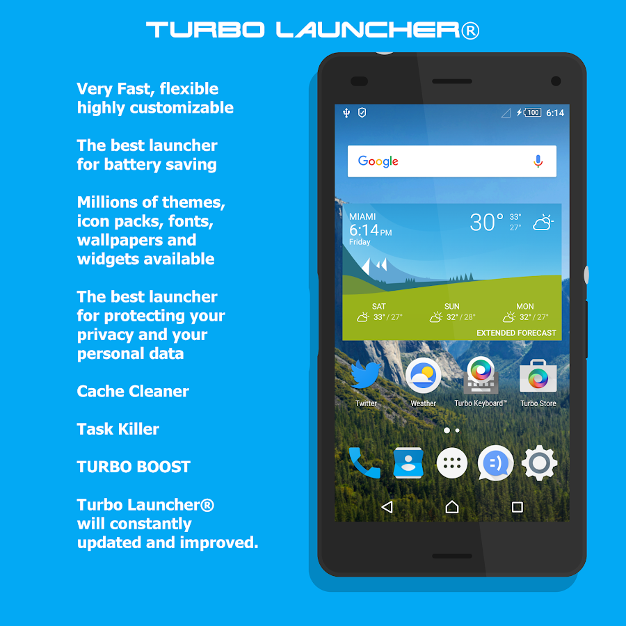 Turbo Launcher® 2017 Screenshot 0