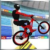 Superheld BMX Fahrrad Stunts Track
