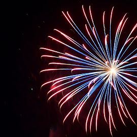 Calm by Savannah Eubanks - Abstract Fire & Fireworks ( firework, celebration, boom, independence day, fireworks, pyrotechnics, holiday )