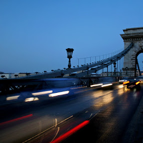 Budapest - Chain bridge by Boris Voglar - Landscapes Travel