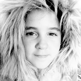 Bundled Up by Jennifer Cessna - Babies & Children Child Portraits ( black and white )