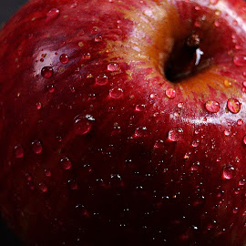 Frosted Apple by Prasanta Das - Food & Drink Fruits & Vegetables ( red, fresh, apple, waterdrops )