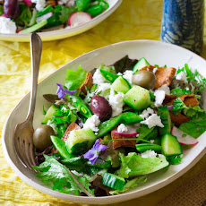 Snap Pea, Mint And Feta Fattoush Salad