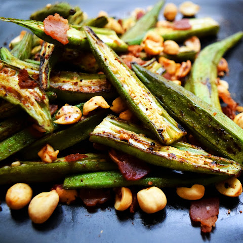BBQ Okra with Bacon & Peanuts