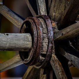 Wheel by Garces & Garces - Artistic Objects Still Life ( wheel, artistic, artistic object, antique )