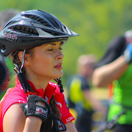 Cycling Girl by Denis Lisul - Sports & Fitness Cycling ( cycling tešanj sprots, best female portraiture )