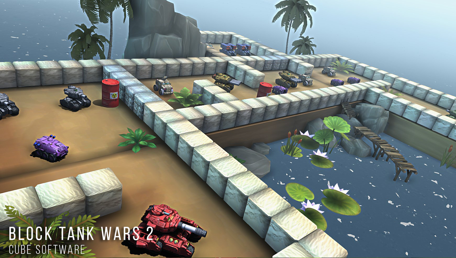 Block Tank Wars 2 Premium Screenshot 1