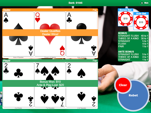Poker with 3 Cards - screenshot