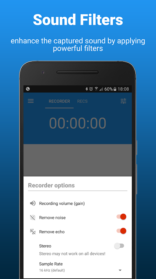 AudioRec Pro - Voice Recorder Screenshot 2