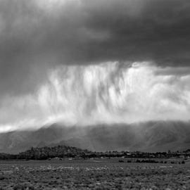 ...rain rain by Michael Keel - Landscapes Cloud Formations ( alabama hills, lone pine, black and white storm, storm, rain )