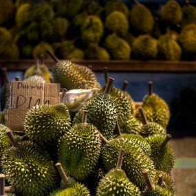 Durians by Mohamad Sa'at Haji Mokim - Food & Drink Fruits & Vegetables ( fruit, market, asian fruit, green, durian )