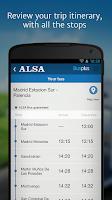 Screenshot of ALSA: buy your bus tickets