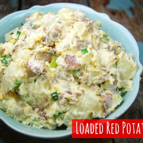 Loaded Smashed Red Potato Salad
