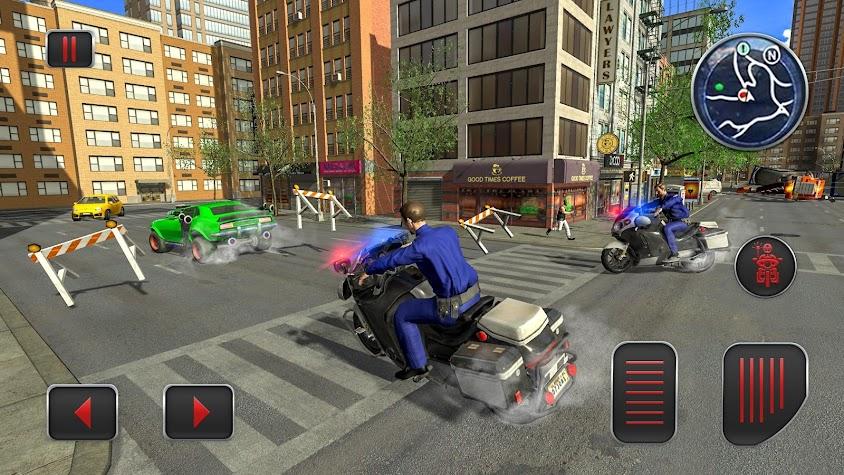 Police Moto Bike City Bank Robbery Gangster Chase Screenshot