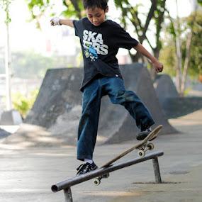 Boardslide by Kèn Nugraha - Sports & Fitness Skateboarding ( skateboarding, dn, sk8, skatepark, surabaya )