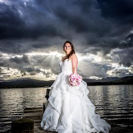 Bride in the Lakes by Joe Jones - Wedding Bride ( wedding photography, weddings, wedding, bride and groom, bride, groom )