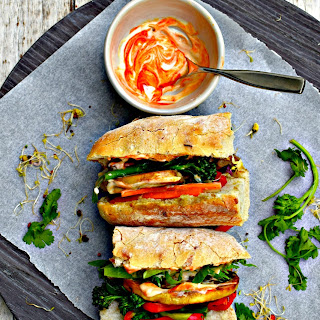 Marinated Mushroom Banh Mi with Asian Pickled Vegetables