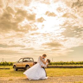 A dance at sunset by Trisha Payne - Wedding Bride & Groom ( married, sunset, wedding, bride, groom )