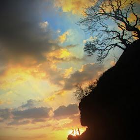dramatic sunset by Adhii Motorku - Landscapes Sunsets & Sunrises