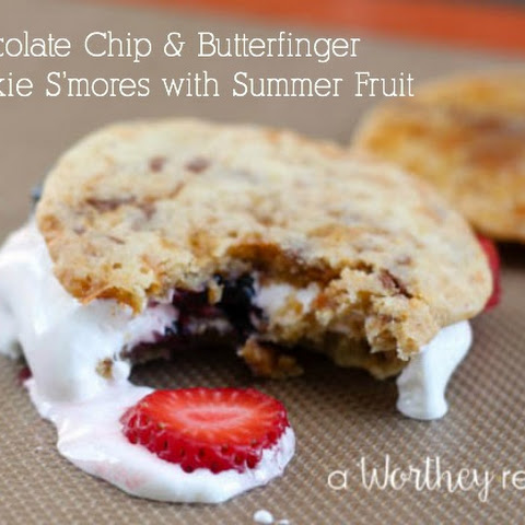 Butterfinger Cookie S'mores with Summer Fruit