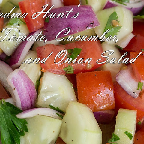 Grandma Hunt's Tomato, Cucumber, & Onion Salad