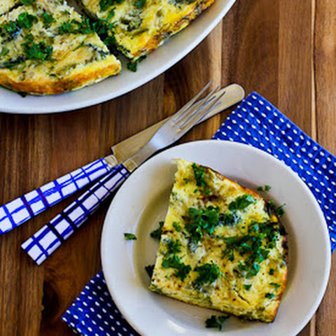 Slow Cooker Frittata with Broccoli, Swiss, Cottage Cheese, and Parmesan