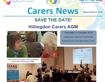 Adult Carers newsletter for Spring/Summer 2018