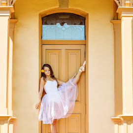 Ballerina Pointe by Roberta Lott-Holmes - People Portraits of Women ( senior portrait, point, woman, ballerina,  )